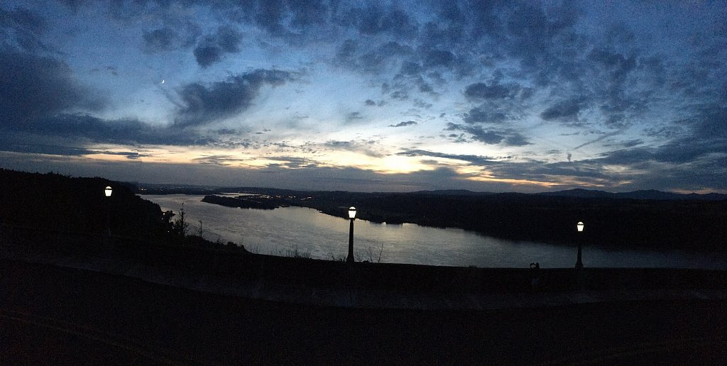Evening at the Vista House